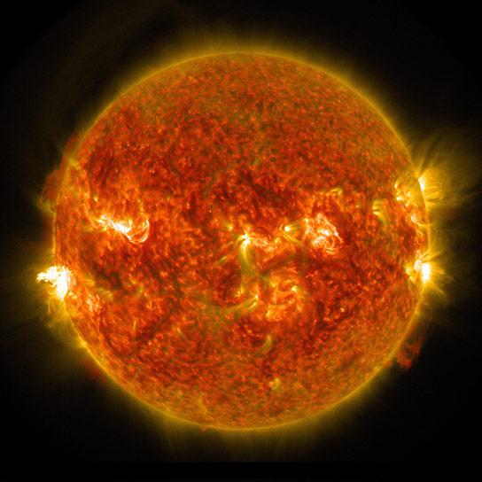 Opname van NASA's Solar Dynamics Observatory op 24 augustus 2014. Image Credit: NASA/SDO